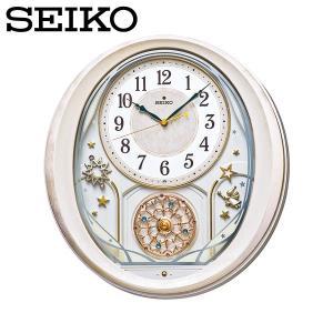 セイコー ウエーブシンフォニー 壁掛け時計 電波掛時計 アナログ おしゃれ 掛け時計 掛時計 かけどけい 電波時計 SEIKO AM251P Wave Symphony|wide02