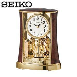 セイコー SEIKO 置き時計 置時計 アナログ おしゃれ 木目調 BY427B|wide02
