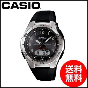 カシオ 腕時計 電波ソーラー wave ceptor ウェーブセプター メンズ ソーラー電波腕腕時計 CASIO マルチバンド6 スポーティデザイン|wide02
