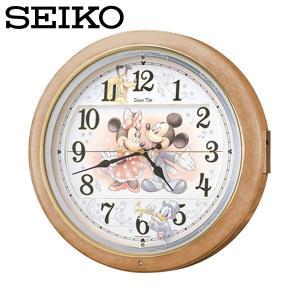 壁掛け時計/とけい/かべかけどけい/セイコー SEIKO 電波掛け時計 FW561A ディズニータイム からくり時計 電波時計 ミッキー ミニー/セイコークロック|wide02