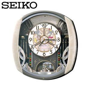 壁掛け時計/とけい/かべかけどけい/セイコー SEIKO 電波掛け時計 FW563A ディズニータイム からくり時計 電波時計 ミッキー ミニー/セイコークロック|wide02