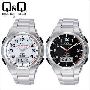 シチズン 腕時計 ソーラー電波時計 電波ソーラー メンズ腕時計 ソーラーメイト MD02シリーズ Q&Q CITIZEN wide02