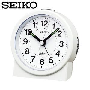 セイコー セイコークロック 置き時計 電波時計 アナログ 電波目覚まし時計 置時計 KR325W 白 SEIKO CLOCK|wide02