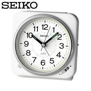 セイコー セイコークロック 置き時計 電波時計 アナログ 電波目覚まし時計 置時計 KR326W 白 SEIKO CLOCK|wide02