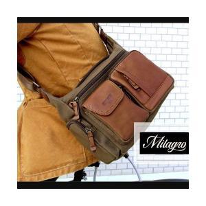 帆布バッグ メンズ ショルダーバッグ 本革 レザー ばっぐ 鞄 カバン ミラグロ AE-BC-781|wide02
