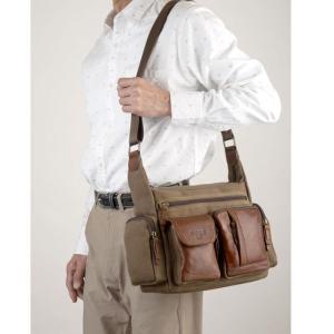 帆布バッグ メンズ ショルダーバッグ 本革 レザー ばっぐ 鞄 カバン ミラグロ AE-BC-781|wide02|02