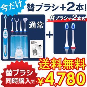 電動歯ブラシ 音波歯ブラシ ロイヤルソニックDX 替えブラシを2本追加したセット 軽量 小型 虫歯予防 ホワイトニング 白い歯|wide02