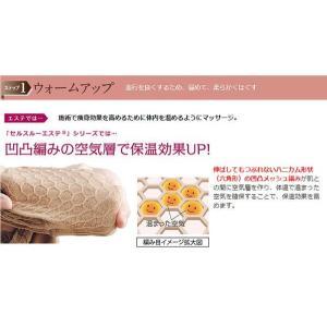 送料無料 ポイント10倍 桜香純子 キャミソール レディース メッシュ セルスルーエステ インナー ダイエット|wide02|03