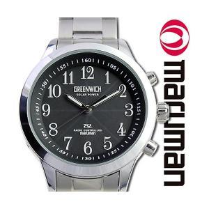 メンズ 電波ソーラー腕時計 腕時計 ソーラー電波 マルマンプロダクツ製 グリニッジ|wide02