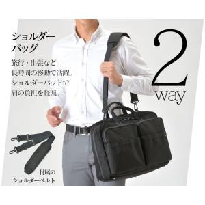 ビジネスバッグ 3WAY メンズ リュック 大容量 コーデュラナイロン 生地 ショルダーバッグ 黒 ブラック|wide02|03