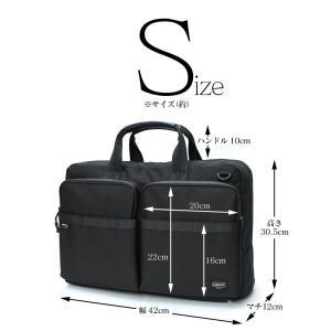 ビジネスバッグ 3WAY メンズ リュック 大容量 コーデュラナイロン 生地 ショルダーバッグ 黒 ブラック|wide02|06