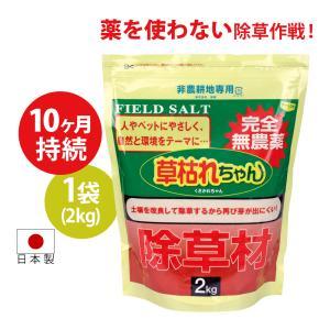 除草剤 完全無農薬 強力 2kg じょそうざい 除草材 根こそぎ ねこそぎ ネコソギ 多孔質セラミック 天然塩 草枯れちゃん2kg|wide02