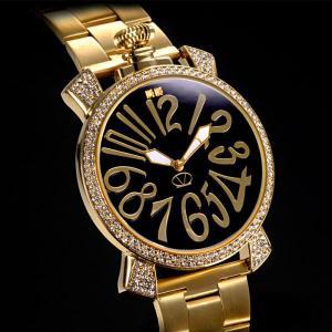 腕時計 宝飾時計 宝飾腕時計 天然ダイヤモンド メンズ 金 ゴールド クリスタルガラス 高級感 おしゃれ かっこいい 革ベルト   男性用 紳士用|wide