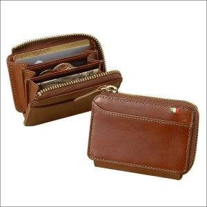 メンズ 財布 二つ折り財布 コインケース 小銭入れ メンズ BOX型小銭入れ ミラグロ イタリアンレザーヌメ革|wide