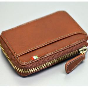 メンズ 財布 二つ折り財布 コインケース 小銭入れ メンズ BOX型小銭入れ ミラグロ イタリアンレザーヌメ革|wide|02