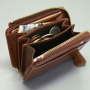 メンズ 財布 二つ折り財布 コインケース 小銭入れ メンズ BOX型小銭入れ ミラグロ イタリアンレザーヌメ革|wide|05