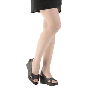 サンダル レディース オフィスサンダル ナースサンダル 洗える ダイエット 美脚 ブラック 室内サンダル 靴  ヒール高8.5cm 健康サンダル 立ち仕事|wide|02