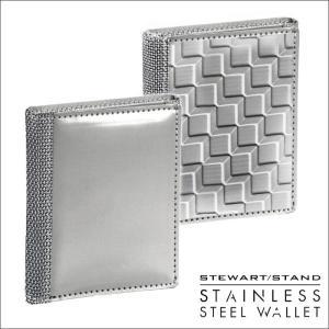 財布 三つ折り メンズ 軽い 軽量 男性 紳士 スキミング防止 カードケース 鉄製 ステンレススチール製  スチュワートスタンド|wide