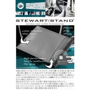 スキミング防止 三つ折り財布 メンズ  カードケース 鉄製 ステンレススチール製  スチュワートスタンド レディース 男女兼用 wide 02