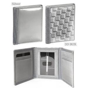 スキミング防止 三つ折り財布 メンズ  カードケース 鉄製 ステンレススチール製  スチュワートスタンド レディース 男女兼用 wide 04