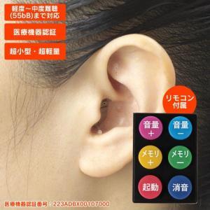 補聴器 耳穴式 電池式 本体 右耳 左耳 目立たない  小さい エーストーン フィット 小型 acetone  小型 軽量 軽い ワイヤレス  リモコン付き|wide