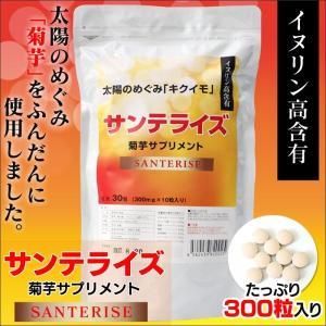 【35%オフ】菊芋サプリメント 300粒 サンテライズ 菊芋 サプリメント 90g (300mg×10粒×30包)|wide