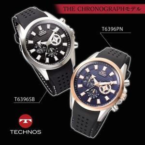 腕時計 メンズ 夏用 10気圧 防水 テクノス クロノグラフ シリコンベルト シリコンバンド スポーツ アウトドア T6396|wide