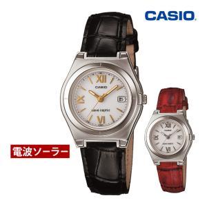ホワイトデー お返し 2020 ギフト 腕時計 レディース 電波ソーラー カシオ 軽い 軽量14.5g 電波時計 革ベルト おしゃれ 革バンド 本革|wide