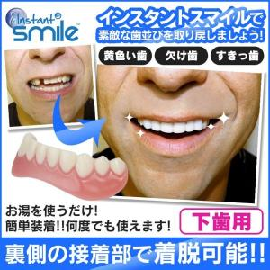 インスタントスマイル2330 下歯用 付け歯 前歯 入れ歯 義歯 歯の悩み 脱着 黄ばみ歯 欠け歯 すきっ歯|wide