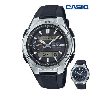 腕時計 メンズ 電波ソーラー デジアナ アナログ デジタル カシオ 軽量 軽い ラバーバンド ゴムバンド ウレタンバンド 日付|wide