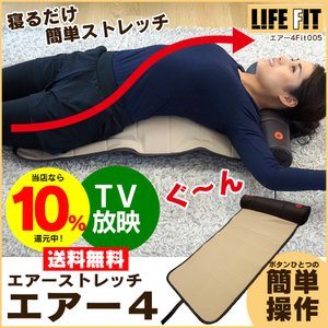 エアーストレッチ LIFE FIT ライフフィット エアーバッグ ストレッチ器具 お尻 太もも 姿勢補正 骨盤 背中 背骨 背伸び 腰痛 ストレッチグッズ エアー4 Fit005|wide
