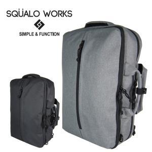リュック ビジネスリュック 3wayリュック 両開き 通勤 通学 社会人 大人 大学生 使いやすい PC収納 A4 B5 クッション スクアーロワークス 3WAYバッグ|wide