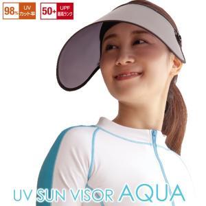 UVサンバイザー アクア AP-429654|wide