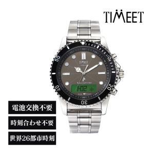 腕時計 メンズ 電波ソーラー デジアナ デジタル アナログ おしゃれ バレンタインギフト 社会人 お祝い ティミット TIMEET TARGET|wide