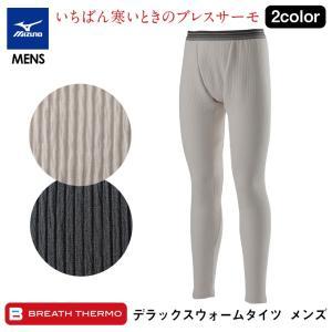 肌着 メンズ ズボン下 ももひき タイツ パッチ 秋 冬 ロングタイツ ミズノ ブレスサーモ インナー ブレスサーモ ボトムス mizuno  発熱 アンダーウェア|wide
