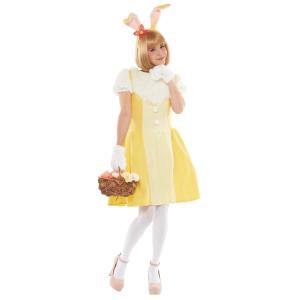 大人 ミスバニー レディース 女性 かわいい イエロー ディズニー バンビ コスチューム 仮装 衣装 ハロウィン コスプレ|wigland