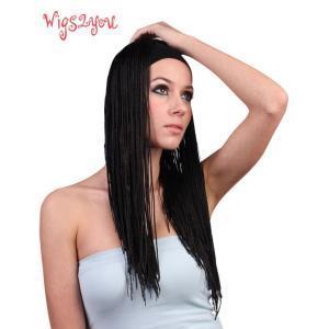 注目商品 ストアのイチオシ オリジナル ドレッド ハーフウィッグ 最高級 かつら  W-330|wigs2you