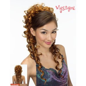 注目商品 ストアのイチオシ オリジナル ハーフウィッグ 最高級 ポイントウィッグ かつら W-802|wigs2you