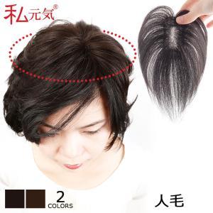 人毛100% 部分ウィッグ 部分かつら 総手植え 私元気 BHA48|wigshop