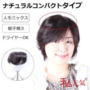 部分ウィッグ 総手植え人毛ミックス ボリュームUP 私元気 IB002L-2|wigshop