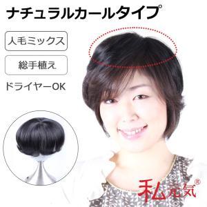 部分ウィッグ 総手植え人毛ミックス ボリュームUP 私元気 IBD01-1B|wigshop