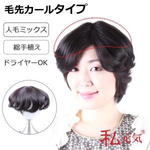 部分ウィッグ 総手植え人毛ミックス ボリュームUP 私元気 IBD03-2|wigshop