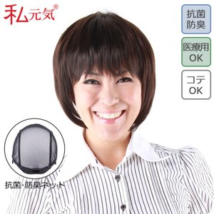 医療用ウィッグ セミロング ウィッグ かつら 私元気 IU7162-N4|wigshop