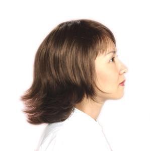 ウィッグ ミセス 外ハネ かつら カールスタイル つむじ 人工地肌付 tm4|wigwigrunes