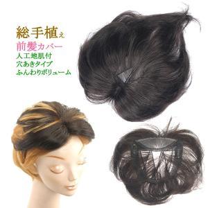 ウィッグ 前髪 ヘアピース ミセス 部分ウィッグ かつら 送料無料 ナチュラル 総手植え tk37|wigwigrunes