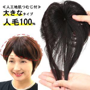 ウィッグ ヘアピース  人毛100% 円形脱毛症 部分ウィッグ かつら 送料無料 増毛 白髪隠し トップ 9008a-straight|wigwigrunes