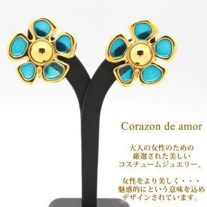 イヤリング ノンホールピアス コスチュームジュエリー アクセサリー お花 ca25|wigwigrunes