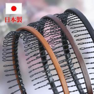 カチューシャ ワイヤーコーム コーム付 日本製 男女兼用 本革製 人気ランキング常連 CK-1|wigwigrunes