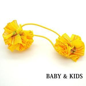 ヘアゴム キッズ 子供 ヘアポニー ヘアアクセ ヘアアレンジ 花 フラワー 結婚式 発表会 k-9|wigwigrunes
