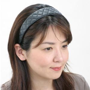 カチューシャ 幅広 痛くならないカチューシャ 合皮ステッチ ブランド 幅広 kachu08|wigwigrunes
